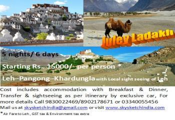 Ladakh tour starting Rs. 15000 per person